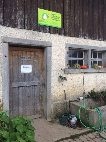Tür zum Hofladen