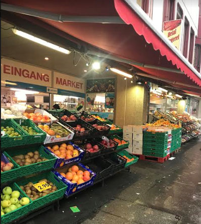 Turkish store with fruits