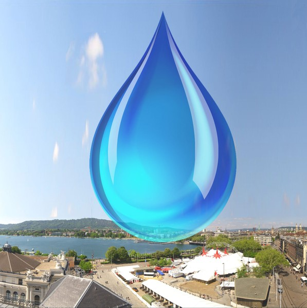 Water consumption of Zurich per week in a drop.