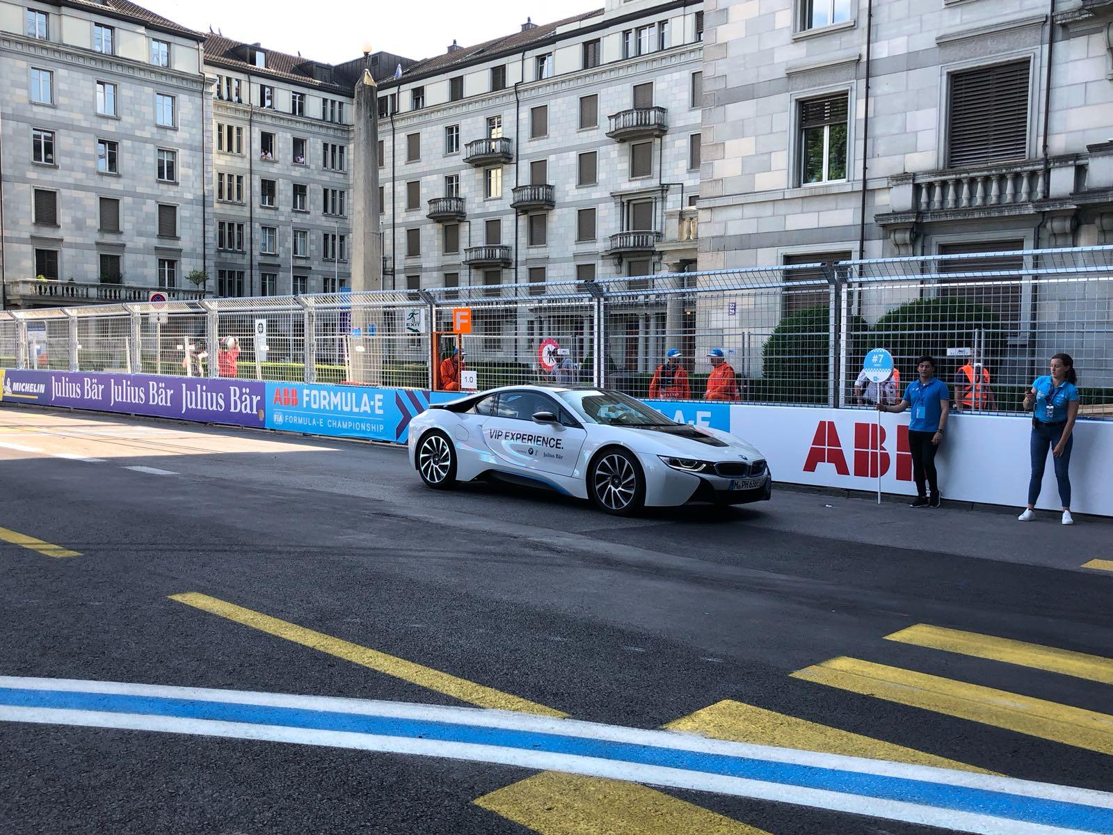 Formula E car at Zurich E-Prix