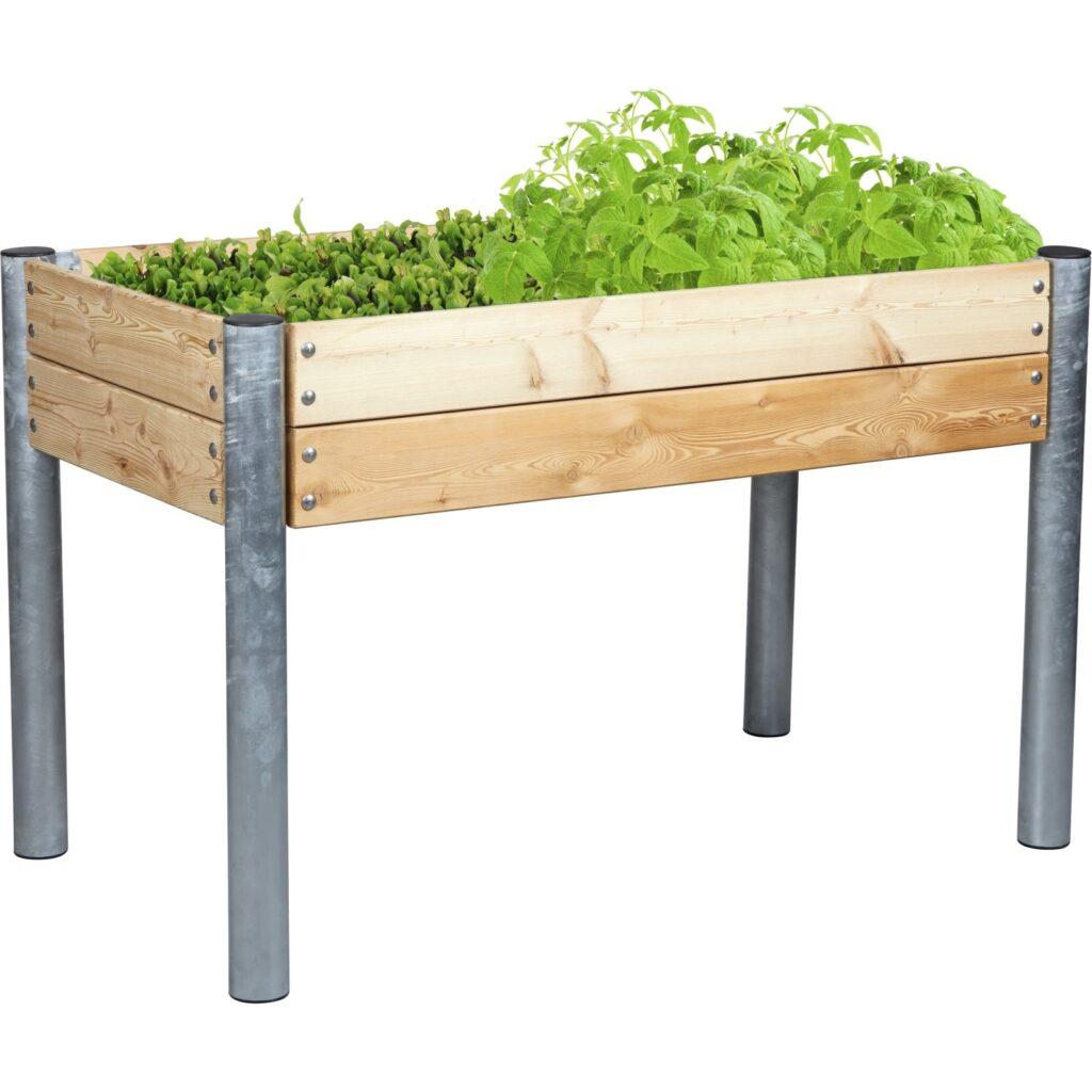 High bed for planting vegetables