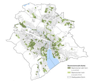 The number of trees in Zürich.
