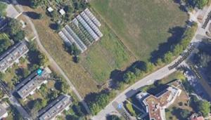 "Location of the Urban gardening community ""Land in Sicht"""