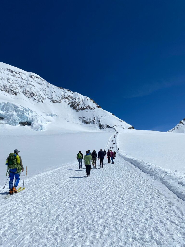 Our visit on the Aletschgletscher
